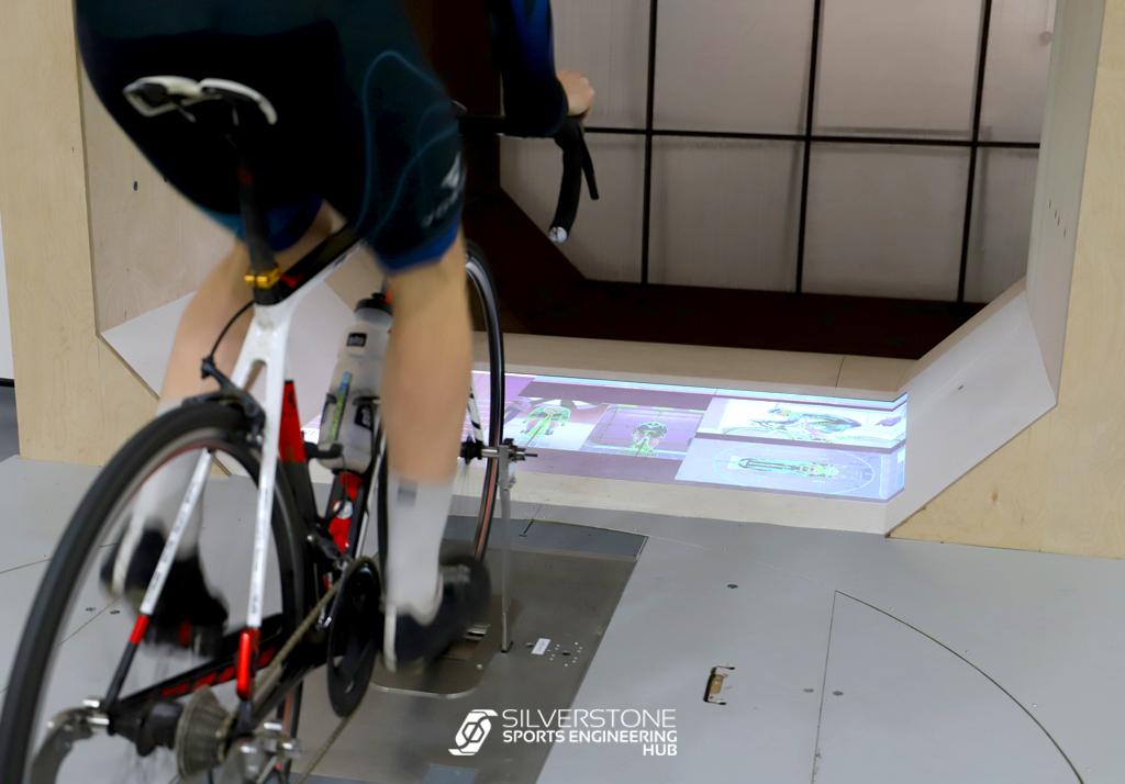 A bike in the wind tunnel
